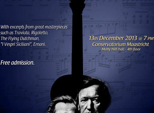 Performing at the Verdi-Wagner Commemorating Concert