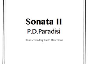 NEW Transcription: Sonata II by P.D.Paradisi