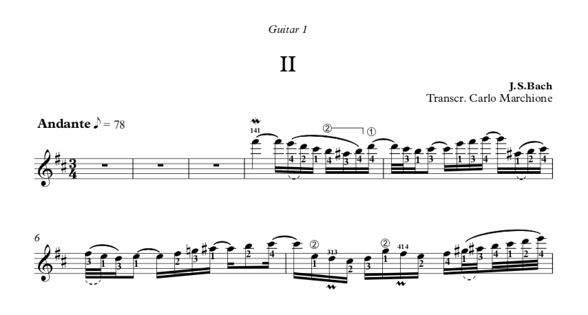 Concerto Italiano, BWV 971 by J S Bach