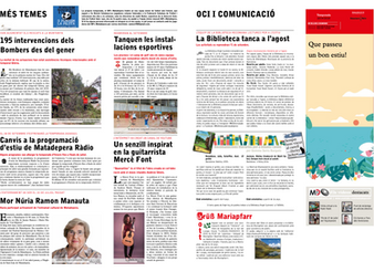 Quarantine on my local newspaper La Gaseta de Matadepera!!