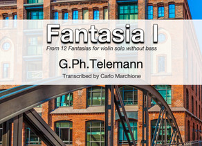 Fantasia 1 for Violin Solo. A new & richer arrangement!