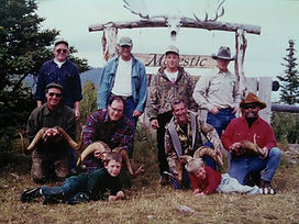 Clients, guides, and the Chadd boys after a successful set of sheep hunts