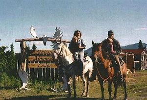 Jeff, Cyndi, Joshua, and Caleb at Majestic Mountain Lodge