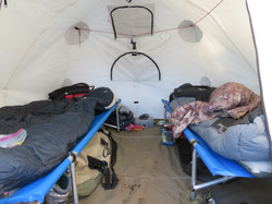 Inside our tents