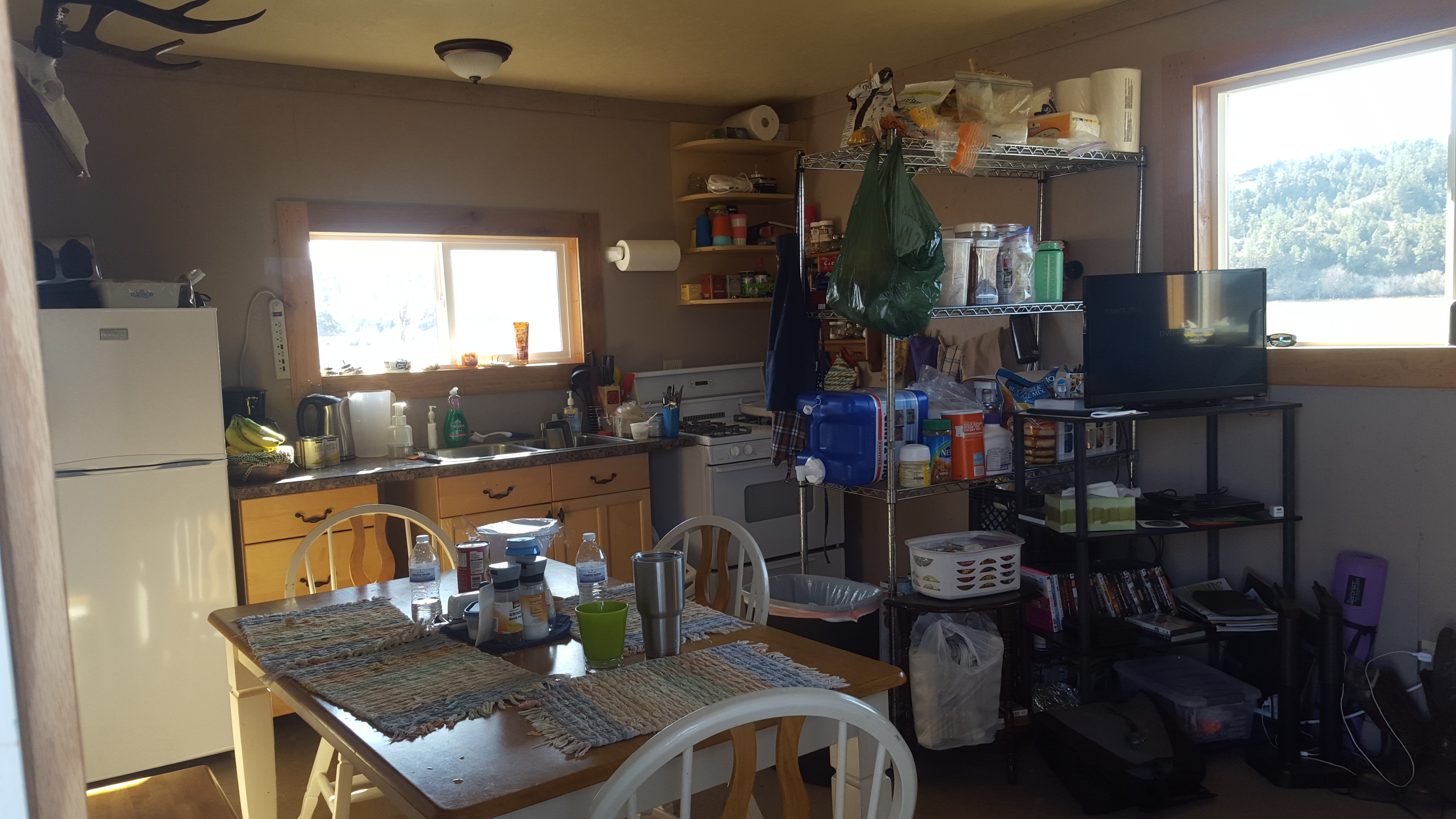 Inside the Love Shack in Montana
