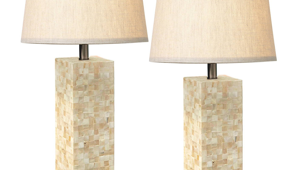 Mother Of Pearl Table Lamp Set 2