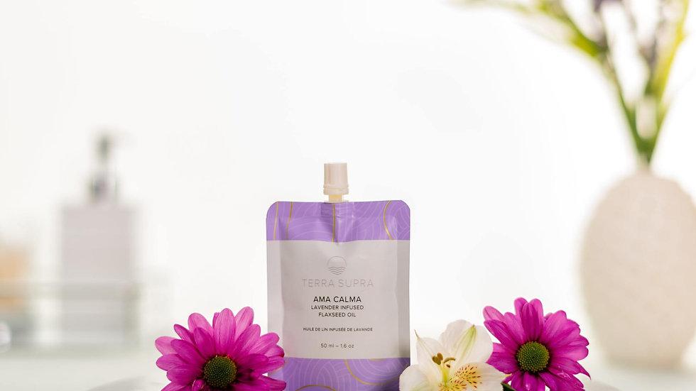 Ama Calma Organic Body Serum With Flaxseed Oil, 50ml