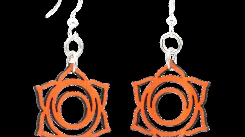 Svadhishthana Chakra Wood Earrings #1635