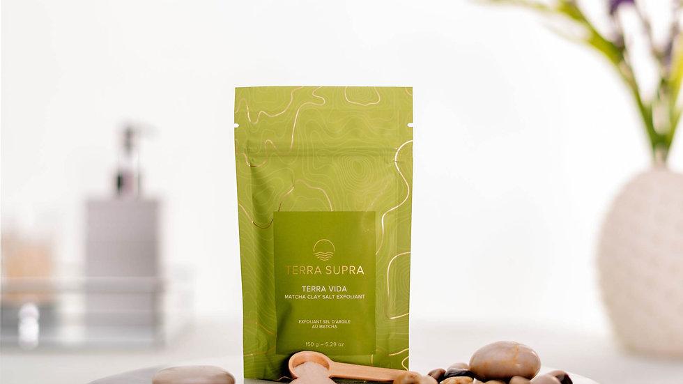 Terra Vida Matcha Clay Salt Exfoliant, 150g