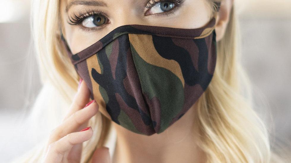 Rfm6001-Rcm010 - Camouflage Reusable Face Masks for Adults