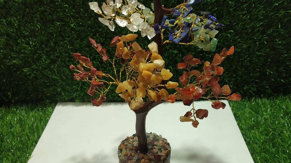 Seven Chakra Gemstone Tree/Crystal Bonsai Tree (300 chips)