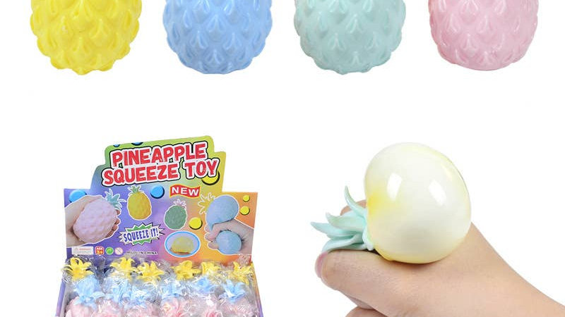 Cute Pineapple Fidget Toys Kids Soft Stress Balls Decompress