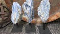 Blue Kyanite on Metal Stand