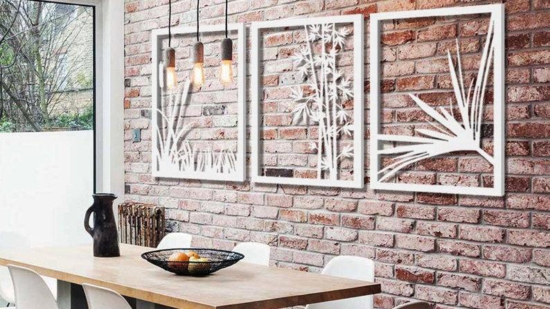 3 Floral Wall Decors Bundle