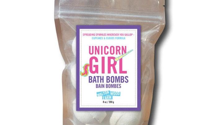 Unicorn Girl Bath Bombs - 7 pack mini