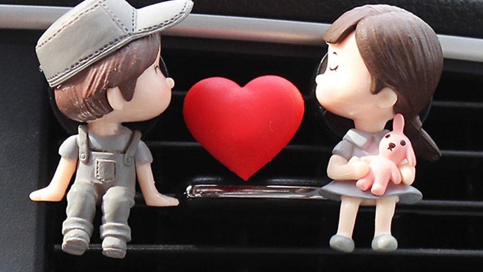 Lovely Couple Girl Boy Car Air Vent Freshener