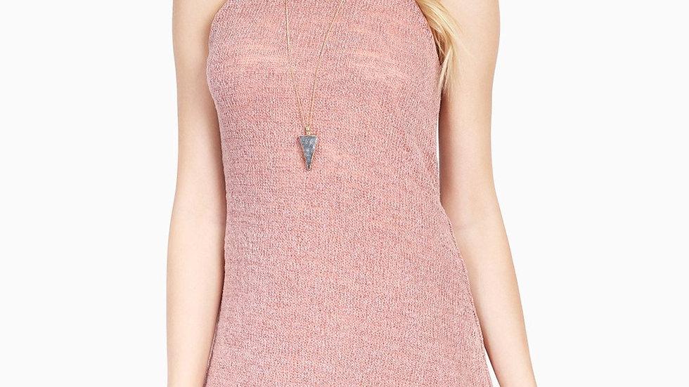 Slub Knit Sleeveless Dress