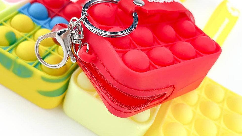 Push Pop Fidget Sensory Bag-Multi Colors Key Bag -BLACK