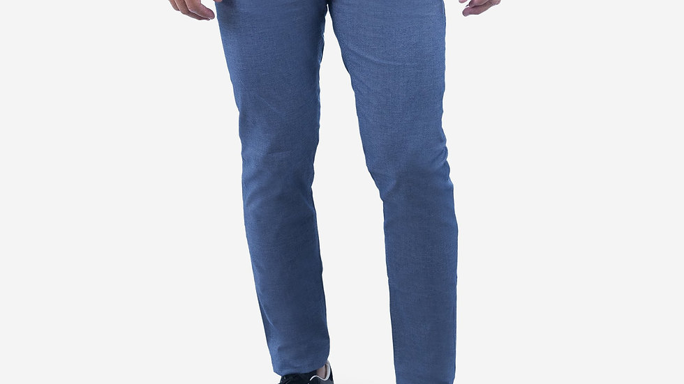 Limited Collection Mist Blue Stretch Slim Fit Twill Pant