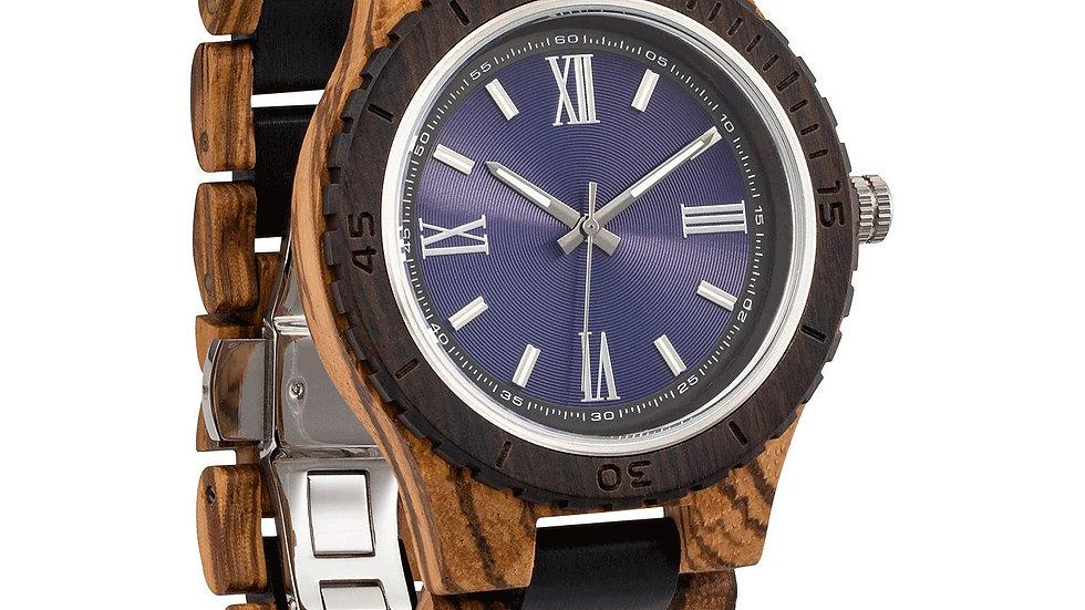 Men's Handcrafted Engraving Zebra & Ebony Wood Watch - Best Gift Idea!