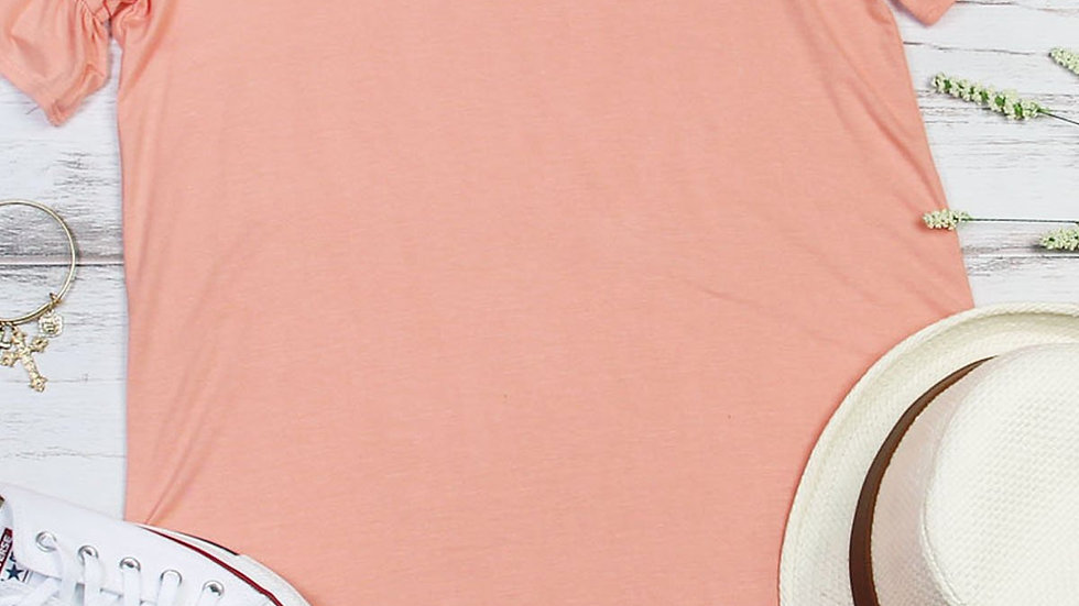 Ruffle Sleeve Criss Cross Tunic