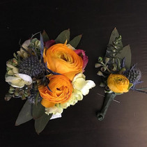 boutonnière for a lovely couple going to