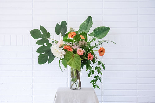 The Statement: Grand Arrangement of Flowers + Vase + Delivery