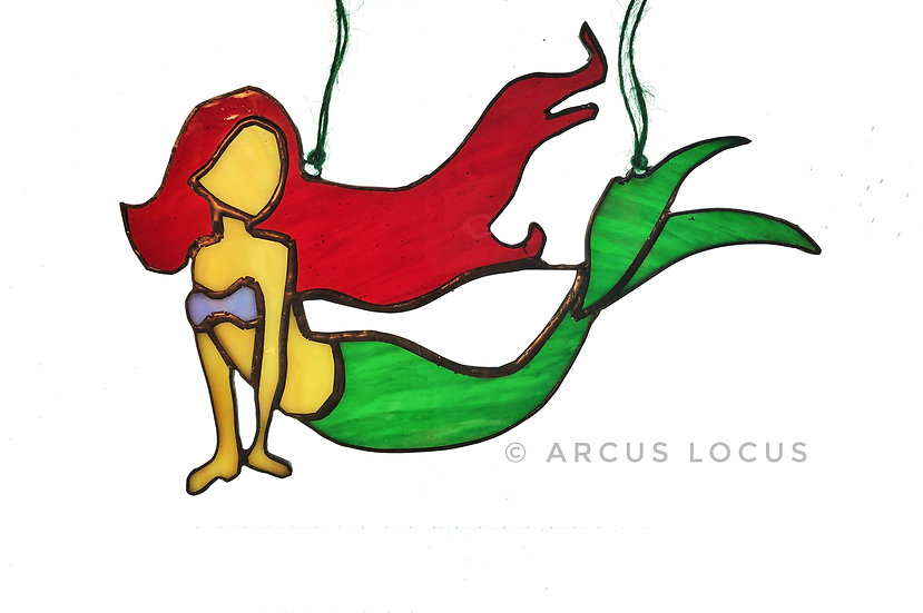 Stained Glass Mermaid, Boho Siren