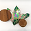 Thumbnail: Aura Green Crystal Cluster Stained Glass, Iridescent Jade Suncatcher