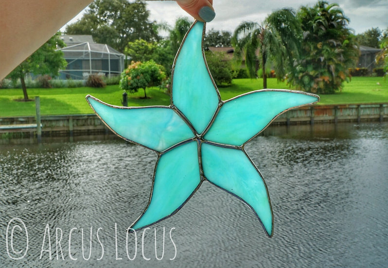 Stained Glass Starfish Suncatcher