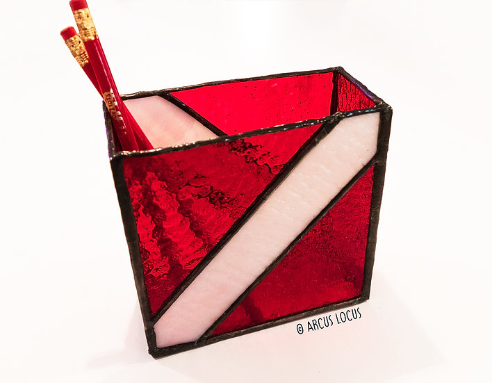 Dive Flag Pencil Holder: Stained Glass