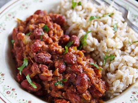 Louisiana Vegan Red Kidney Beans and Rice