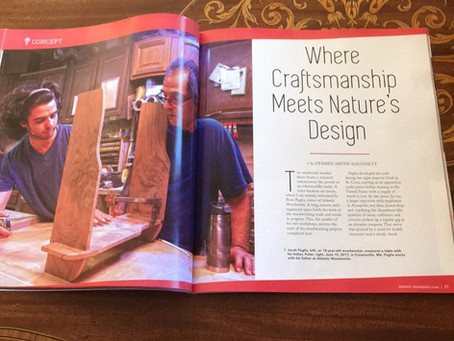Article in Up.St.ART Annapolis magazine