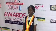 Demilade Olalere Wins 1st Place In The 2018 Rising Star Writing Competition