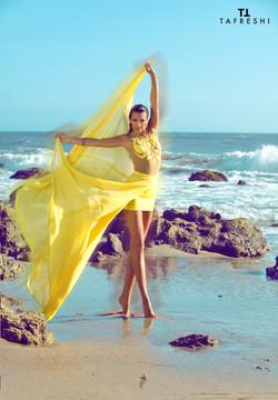 Yellow Flowy Dress