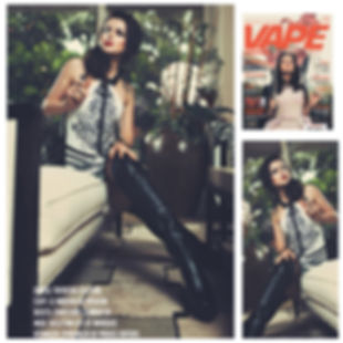Vape Magazine featuring TAFRESHI hand painted dress in their April 2015 Spread