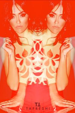 Soft Geometric Shapes On Bodysuit