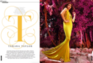 ActressTamara Taylor wearing TAFRESHI Featured in RUNWAY Magazine forAugust 2015 speard