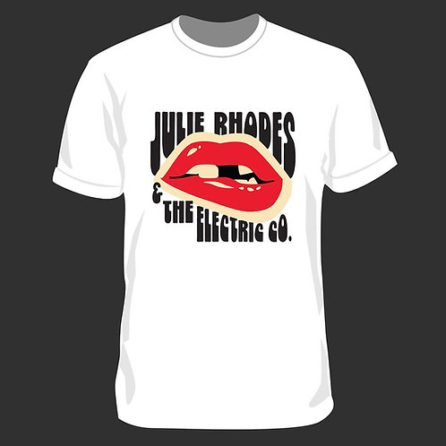 Julie Rhodes & the Electric Co. Lips Logo Tee