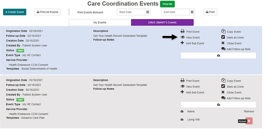 View Event - Patient Generated Events.jp