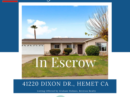 ESCROW OPENED - MULTIPLE OFFERS