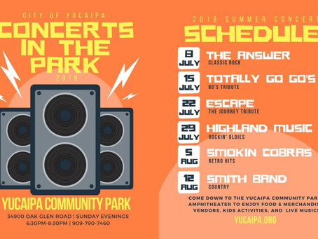Yucaipa Summer Concerts in the Park