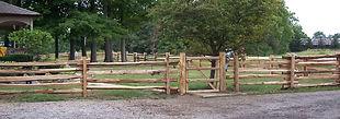 Cedar Split Rail fence with gate nice