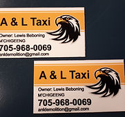 a & l taxi m'chigeeng fridge magnets mag