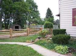 straight rail fence - property