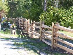 straight rail fence - property boundary