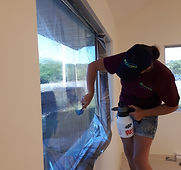 flat glass commercial window tint instal
