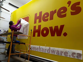 Home Hardware Logo application & commercial vehicle lettering