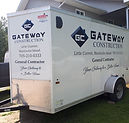 gateway construction trailer vinyl lettering and decals
