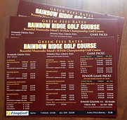 rainbow ridge golf course 1 - rack card